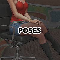 Hi-Tech chair and V4 Sitting poses image 6