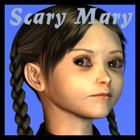 Scary Mary for The PreTeen 3D Figure Assets Oskarsson