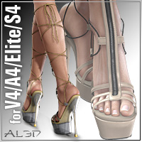HighHeels 3 for V4.2 A4 Elite S4 3D Figure Assets _Al3d_