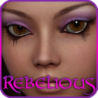 Rebelious V4 Makeup Resource 1 2D Graphics rebelmommy