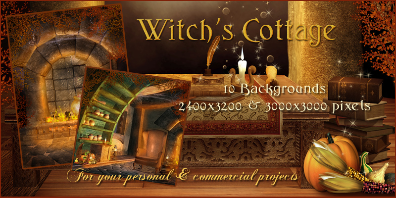 Witch's Cottage Backgrounds
