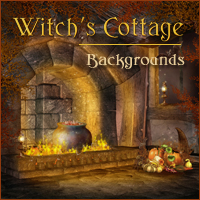 Witch's Cottage Backgrounds 2D 3D Models -Melkor-