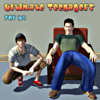 Ultimate Teenagers for M4 3D Figure Assets AcePyx