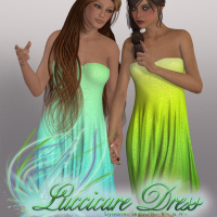 HZ-Luccicare Dress for V4/A4 3D Figure Essentials 3D Models HeRaZa