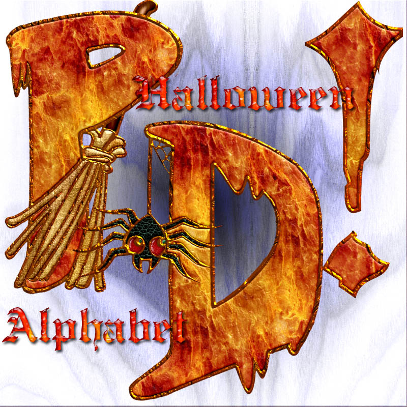 Harvest Moons Halloween Alphabet