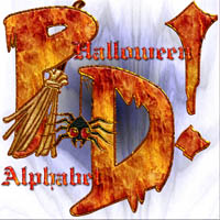 Harvest Moons Halloween Alphabet  2D And/Or Merchant Resources Themed MOONWOLFII