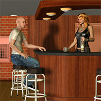 Basement Bar Set 3D Models Richabri