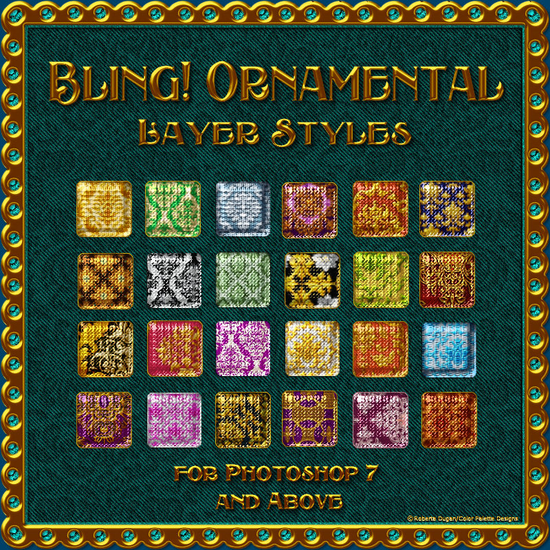 BLING! ORNAMENTAL Layer Styles