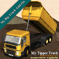 My Tipper Truck Props/Scenes/Architecture Transportation Themed Simon-3D