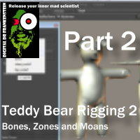 Digital Dr Frankenteins Bear Rigging (Bones Zones and Moans) Part 2 Tutorials : Learn 3D Fugazi1968