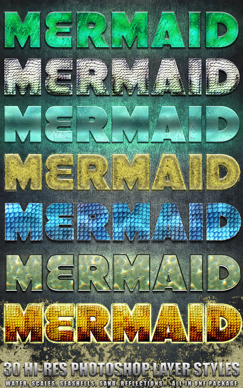 Mermaid - Photoshop Styles
