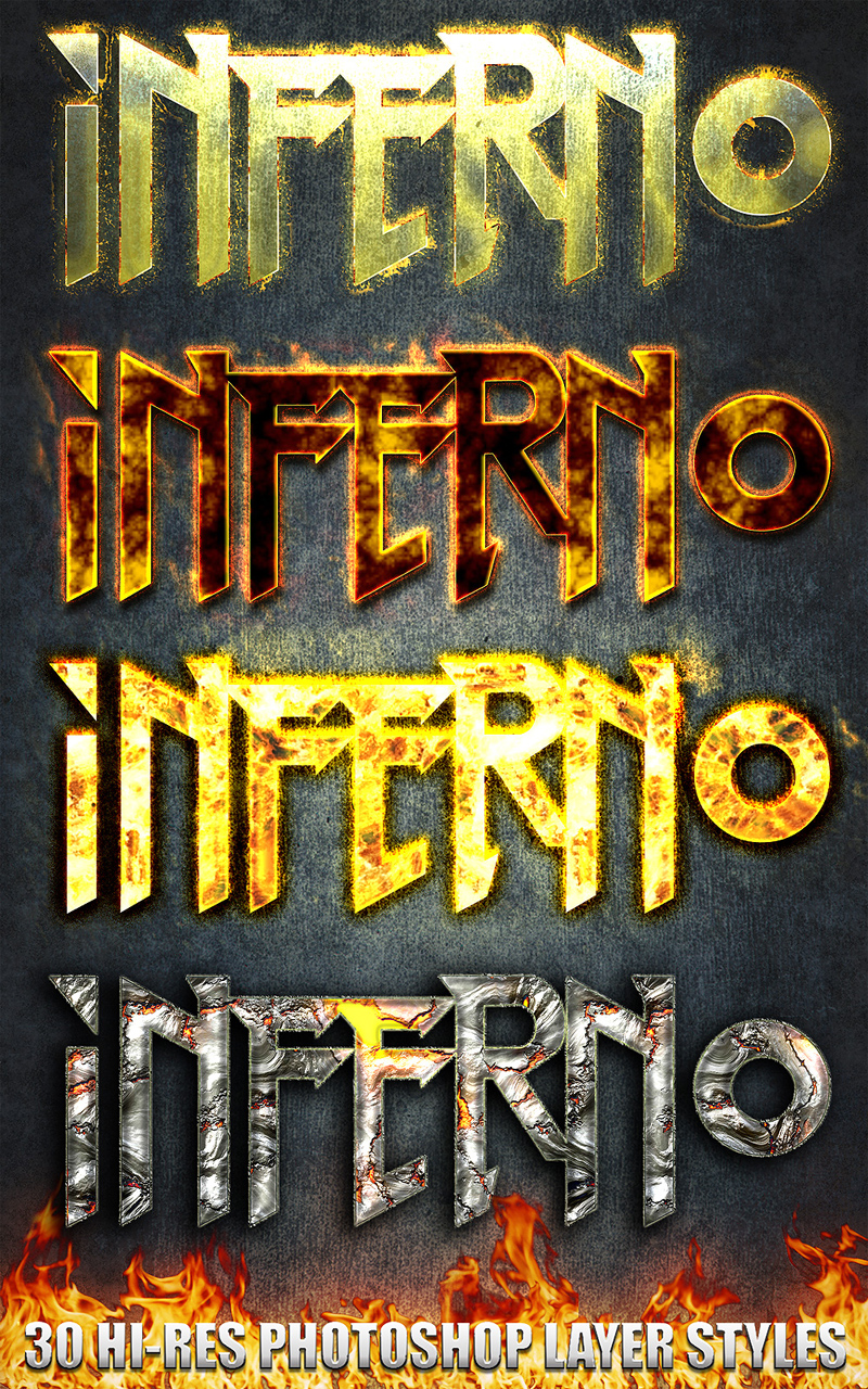 Inferno - Photoshop Styles