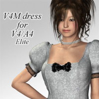 V4M dress for V4A4 3D Figure Assets kobamax