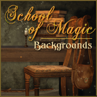 School of Magic 2D 3D Models -Melkor-