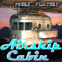 Airship Cabin Themed Props/Scenes/Architecture Transportation Cybertenko