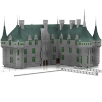 Chateaux Azay le Rideau (for Poser) 3D Models Digimation_ModelBank