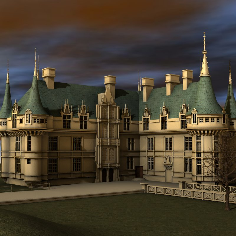 chateaux azay le rideau for poser 3d models digimation modelbank. Black Bedroom Furniture Sets. Home Design Ideas