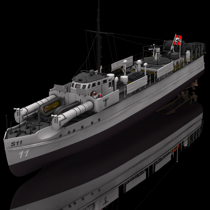 German E Boat (for Poser)