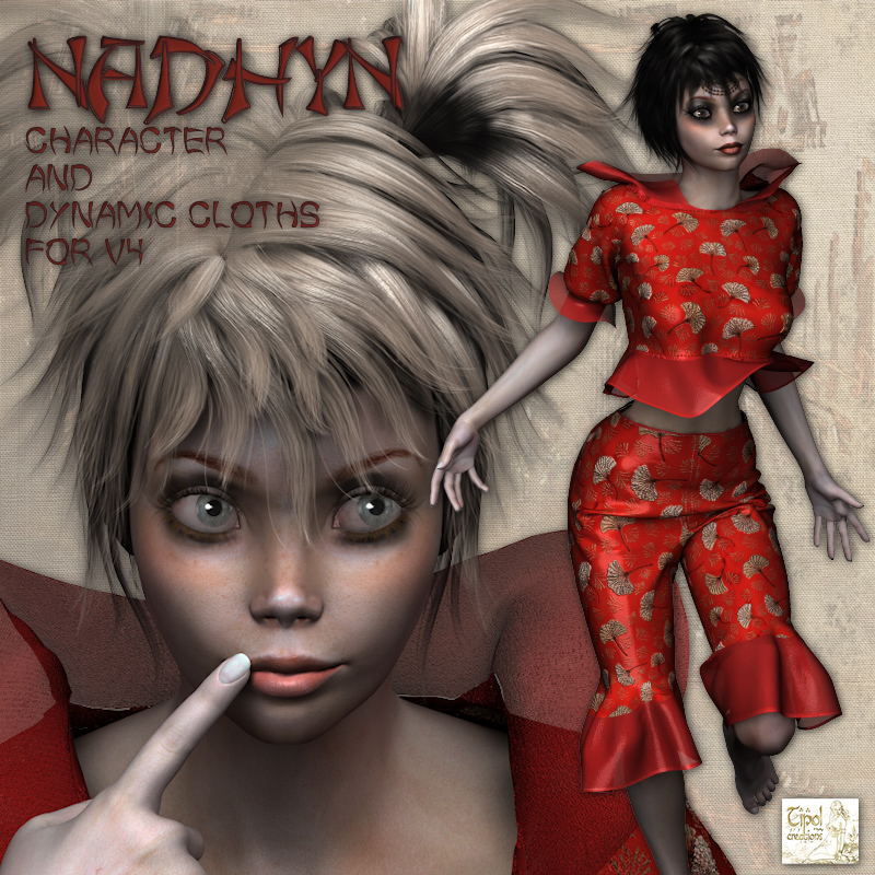 Nadhyn character and dynamic cloths for V4