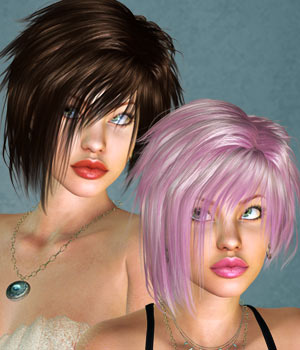 Harmony Hair for V4 3D Figure Assets SWAM