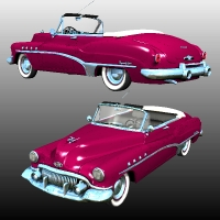 Buick Roadmaster Convertible 1951 Themed Stand Alone Figures Nationale7