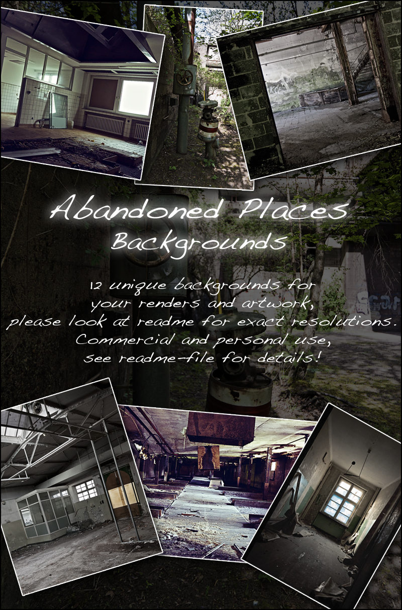 Abandoned Places - Backgrounds