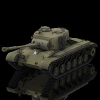 Pershing M26 Tank (for Poser) 3D Models 3D Figure Assets Digimation_ModelBank