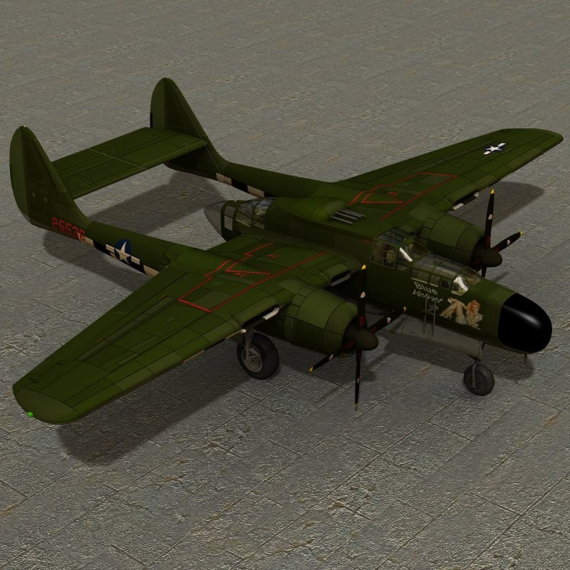 Northrop P 61A (for Poser)
