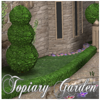 Topiary Garden for Poser Software 3D Models nikisatez