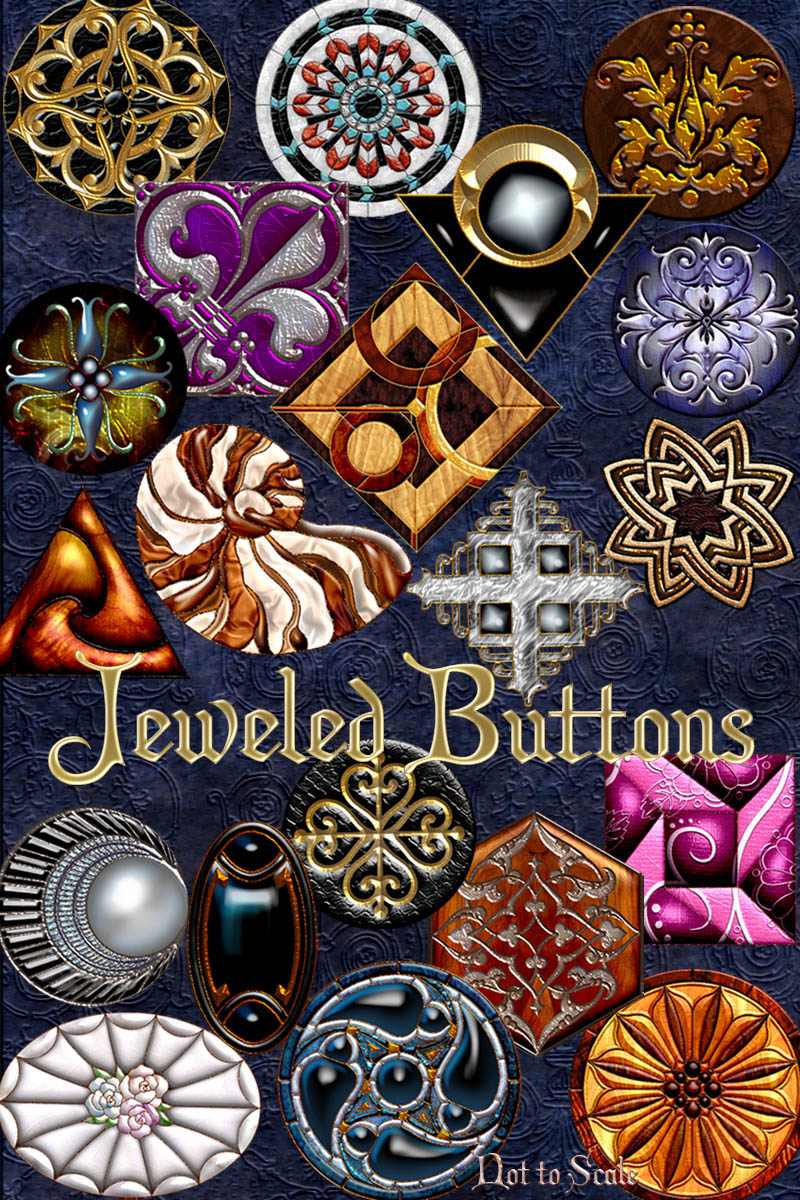 Harvest Moons Jeweled Buttons