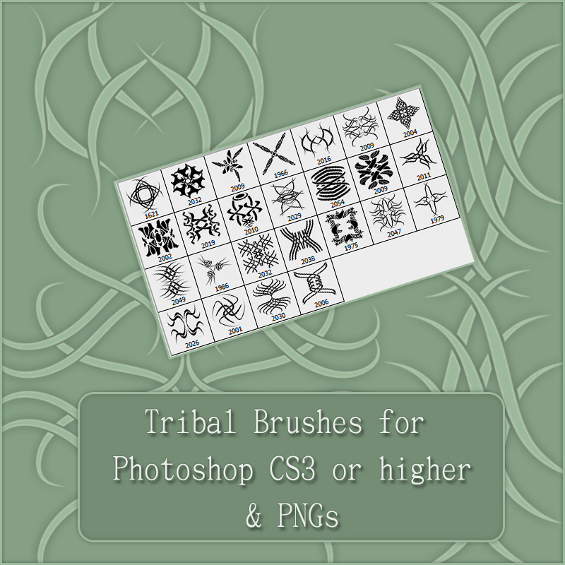 Tribal Art - Brushes and PNGs