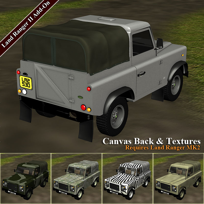 Canvas Back for Land Ranger MK2