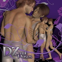 DZ Couple Poses Set 2 3D Figure Essentials dzheng