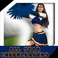 AW All Star Cheerleaders 3D Figure Assets awycoff