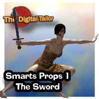 The Digital Tailor Smart Prop 1 - The Sword Tutorials : Learn 3D Fugazi1968