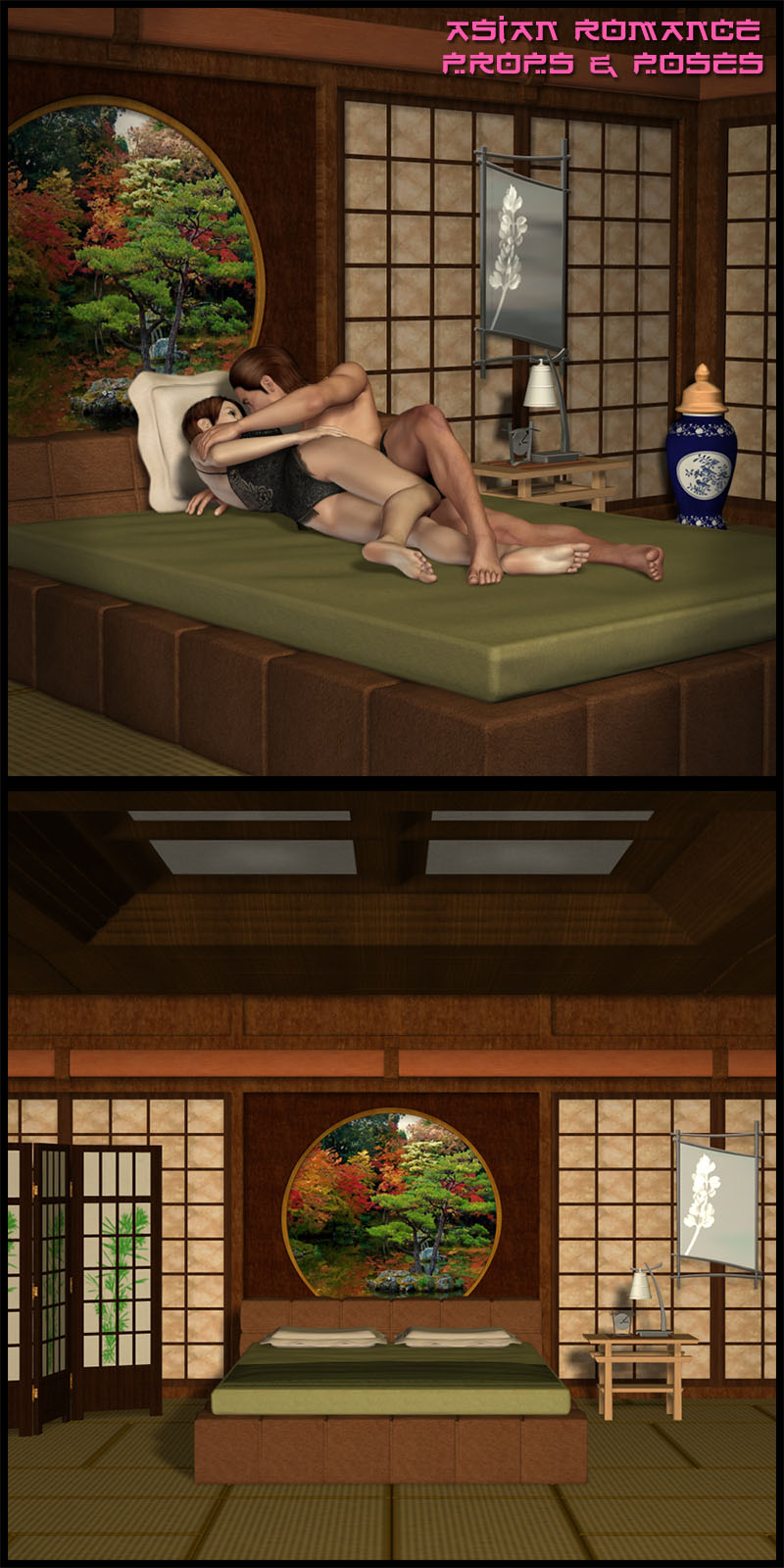 M4-V4 Asian Romance Props and Poses