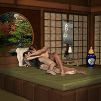 M4-V4 Asian Romance Props and Poses 3D Models 3D Figure Assets Richabri