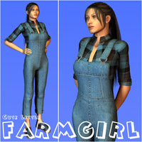 Cute Litttle FarmGirl 3D Figure Essentials Oskarsson