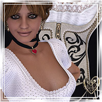 Dirndl Collection Clothing Themed Accessories Romantic-3D