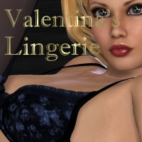 Valentina's Lingerie 3D Figure Essentials 3D Models Mike2010
