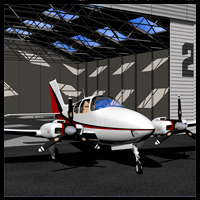 Twin engine airplane G58 Transportation Props/Scenes/Architecture 2nd_World