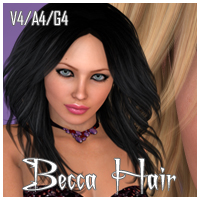 Becca Hair V4 A4 G4 by nikisatez