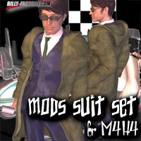 M4H4 Mods Suit Set 3D Figure Assets billy-t