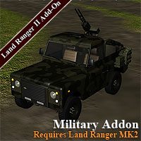 Military for Land Ranger MK2 Themed Transportation Simon-3D