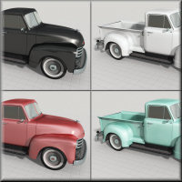 1951 Chevy Pickup for Poser image 5