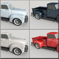 1951 Chevy Pickup for Poser image 6