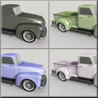 1951 Chevy Pickup for Poser image 7