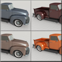 1951 Chevy Pickup for Poser image 8