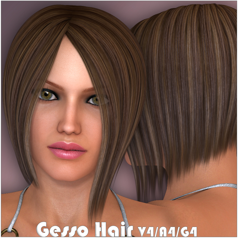 Gesso Hair V4 A4 G4