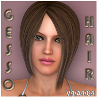 Gesso Hair V4 A4 G4 3D Figure Essentials nikisatez